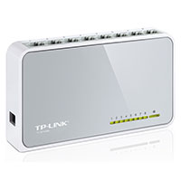 Unmanaged switch,   8x 10/100 RJ-45, desktop (TP-Link TL-SF1008D)