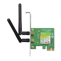 Wireless PCI-Express N adaptor, 300Mbps (TP-Link TL-WN881ND)